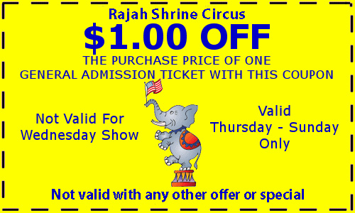 Shrine Circus Coupon